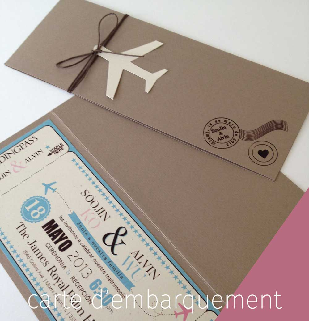 réservation de votre avion et carte embarquement